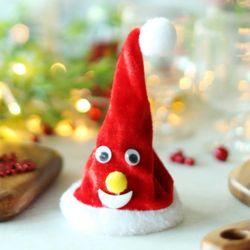 춤추는 크리스마스 인형장식 (산타모자)