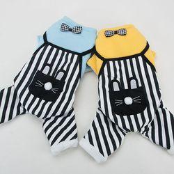 봉봉펫닷컴 토끼 주머니 스트라이프 강아지옷