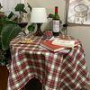 온더화이트체크 식탁보 테이블보 110x110cm 테이블러너