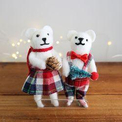 크리스마스 장식 소품 펠트 곰 - 막스(MARKS)