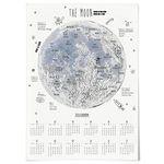 대형 2020 달력 일러스트 액자 패브릭 포스터 달 지도