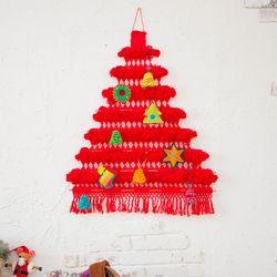 크리스마스 트리배너 레드 미듐(M)+오너먼트 세트