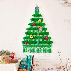 크리스마스 트리배너 그린 미듐(M)+오너먼트 세트