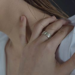 (루나)MA Bold Pattern Ring