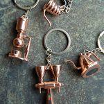 BQ5677 브론즈 커피용품 장식 열쇠걸이