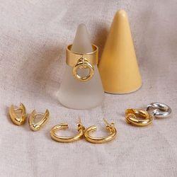 18K GOLD PLATING 스파클 귀걸이 실버 925