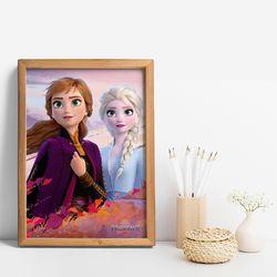 디즈니 인테리어 포스터 - 겨울왕국 2 메인포스터 12종