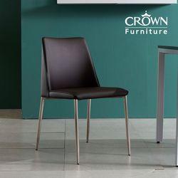 크라운퍼니쳐 가죽 의자(색상 선택)