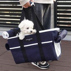 꼼므백 애견가방 숄더백 강아지 고양이 이동가방