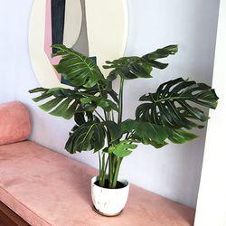 데코 나무 조화 화분 (몬스테라)