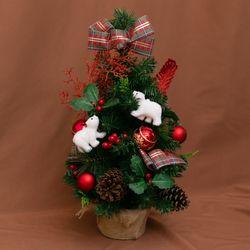 131 크리스마스 파인 레드 미니 트리 풀세트