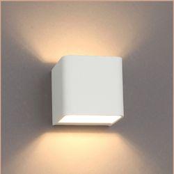 스퀘어 LED 5W 벽등 화이트 타입 전구색 노란빛 조명