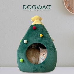크리스마스 트리 강아지 하우스 고양이 겨울 숨숨집