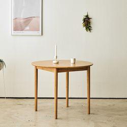 브리제 원목 900 원형 식탁테이블