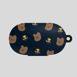 버즈 꿀먹는 곰 패턴 네이비