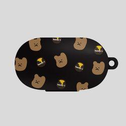 버즈 꿀먹는 곰 패턴 다크브라운