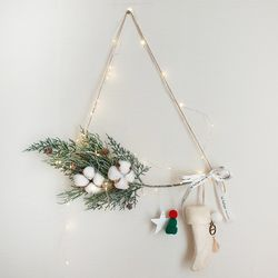 톰슨 크리스마스 양말가랜드(와이어전구50구 추가)