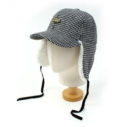 GDMT Houndtooth Check Earflap Cap 귀달이모자