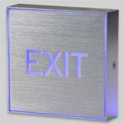 JH LED 표시등 EXIT 사각 1W 파랑
