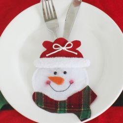 크리스마스 눈사람 수저커버