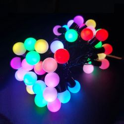 트리전구 볼 50구 LED 2.4W 7색 자동변환 앵두전구