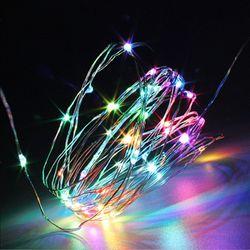 퍼스트 큐빅 은하수 100구 LED 2W RGB컬러 USB 건전지