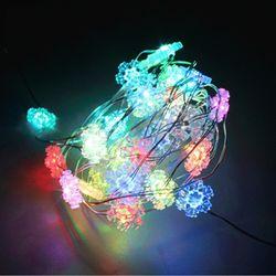 퍼스트 큐빅 눈장식 50구 LED 2W RGB컬러 USB 눈꽃