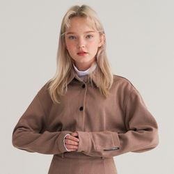(CTB4) 헤링본 슬리브 포켓 셔츠 베이지