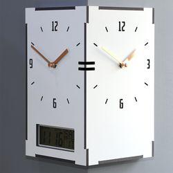 요일날짜온도를 한번에 알수있는 직사각코너시계 캘린더