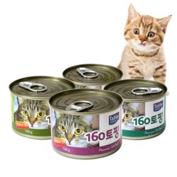 고양이간식 160토핑 참치캔 160g 24개입