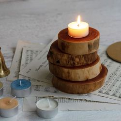 두껍고 견고한 참죽나무 우드 코스터 디퓨져 캔들 컵 화분 받침