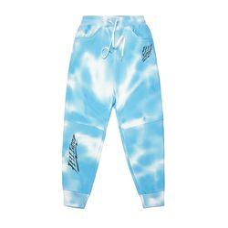 DOT TIE DYE HEAVY SWEAT JOGGER PANTS SKY BLUE