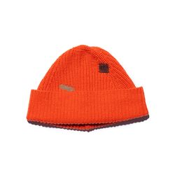 Vintage Effect WOOL BEANIE (orange)