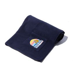 Fleece Pocket BLANKET (navy)