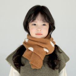 아동 유아 도트 머플러 니트 뜨개질 목도리