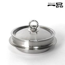 키친아트 일품 통5중 스테인레스 가마솥 18cm(낮은형)