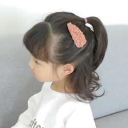아동 유아 몽글 헤어핀 머리핀 똑딱핀