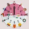 원더타임시리즈-러블리 크리스마스 무소음벽시계
