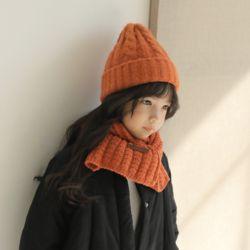 아동 유아 퍼핑 니트 비니 겨울 방한 모자