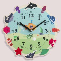 원더타임시리즈-바다탐험대 무소음 벽시계