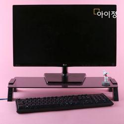 아이정 스마트독컴팩트 USB 모니터받침대 C706 블랙유리블랙