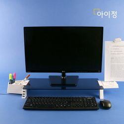 아이정 스마트독브릿지 USB 모니터받침대 S362 블랙유리화이트