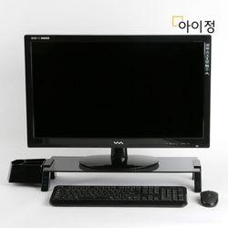 아이정 스마트독브릿지 USB 모니터받침대 S355 블랙유리블랙