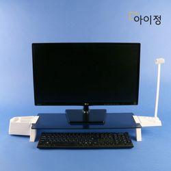 아이정 스마트독브릿지 모니터받침대 S331 블랙유리화이트