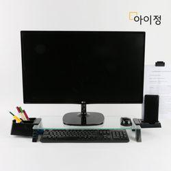 아이정 스마트독브릿지 USB 모니터받침대 S317 투명유리블랙