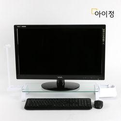 아이정 스마트독브릿지 모니터받침대 S300 투명유리화이트