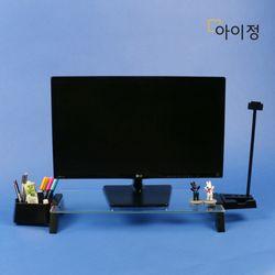 아이정 스마트독브릿지 모니터받침대 S294 투명유리블랙