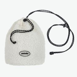 BOA FLEECE BUCKET BAG (IVORY)