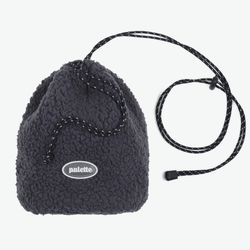 BOA FLEECE BUCKET BAG (CHARCOAL)