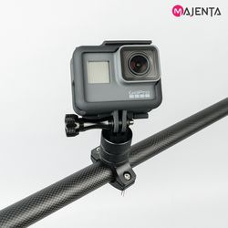 마젠타 고프로 액션캠 회전형 메탈 자전거 마운트